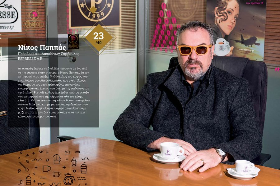 Συνέντευξη Προέδρου & Διευθύνοντος Συμβούλου κ.Νίκου Παππά στο περιοδικό Coffee Dential